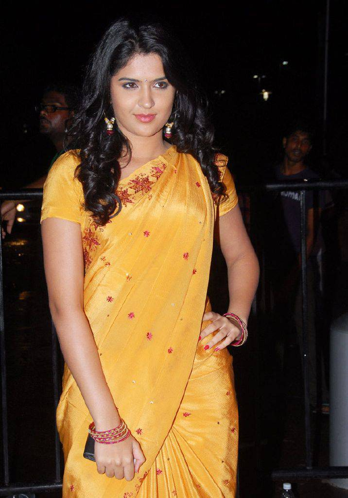DEEKSHA SETH BEAUTIFUL LOOK IN SAREE AT SANTOSHAM AWARDS wallpapers