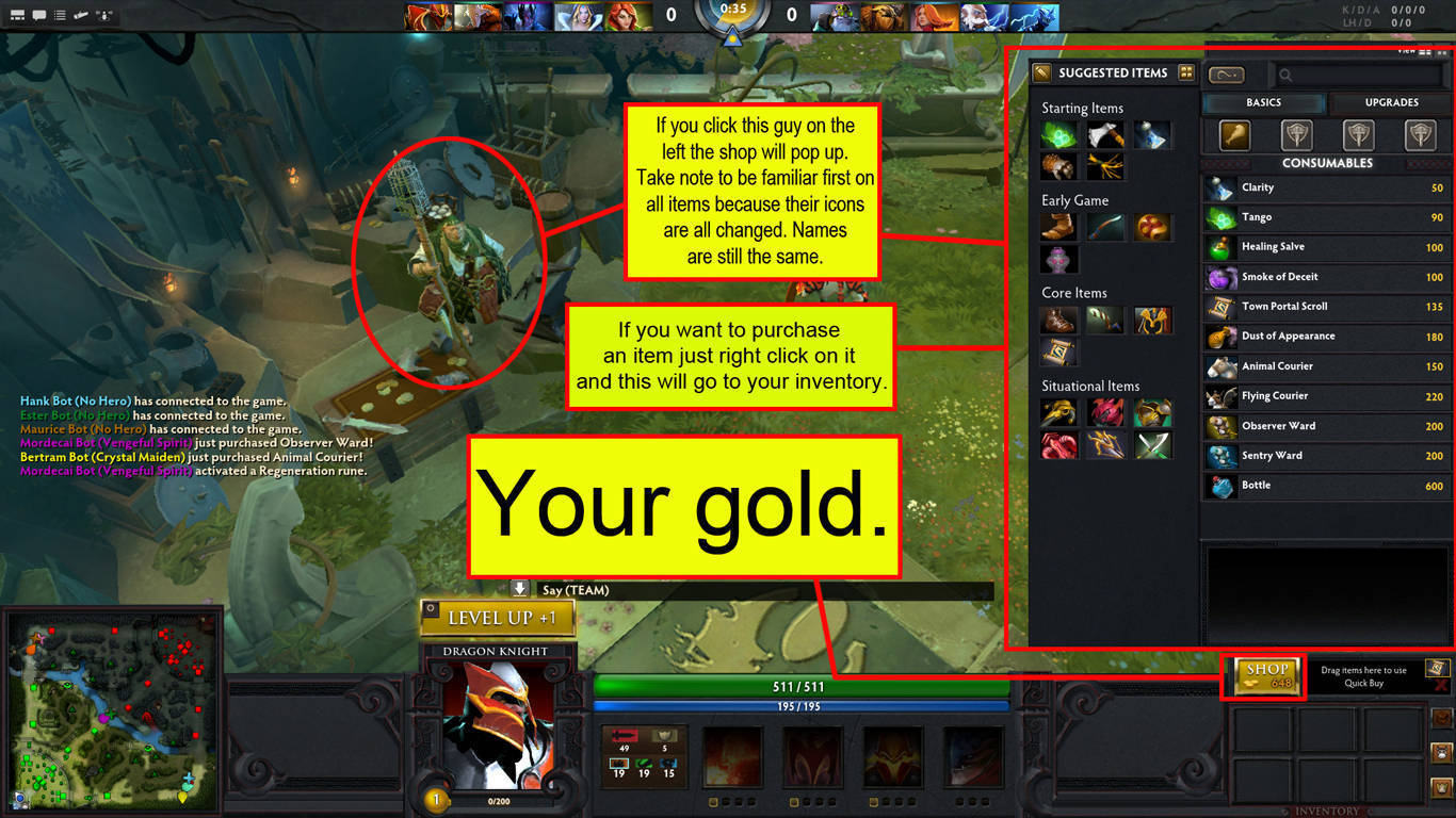 dota 2 basic info s before engaging to battle