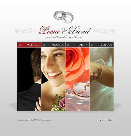 Free wedding web templates