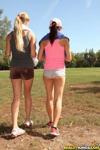 EuroSexParties.com - Cayenne Klein, Mira Shine - Sexy workout