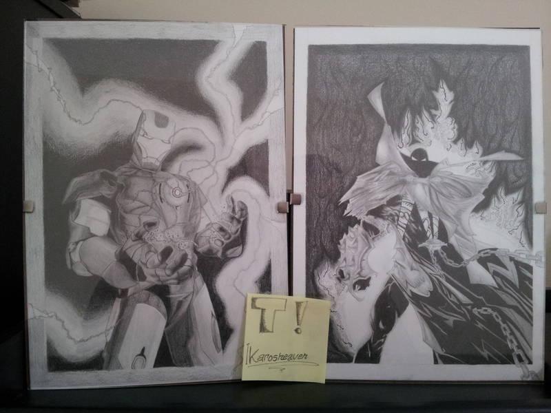 Dibujos Spawn - Iron man mis primeros