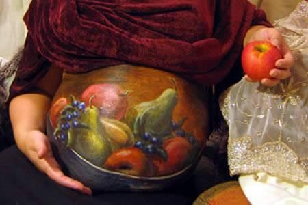 Bodyart w ciąży 16