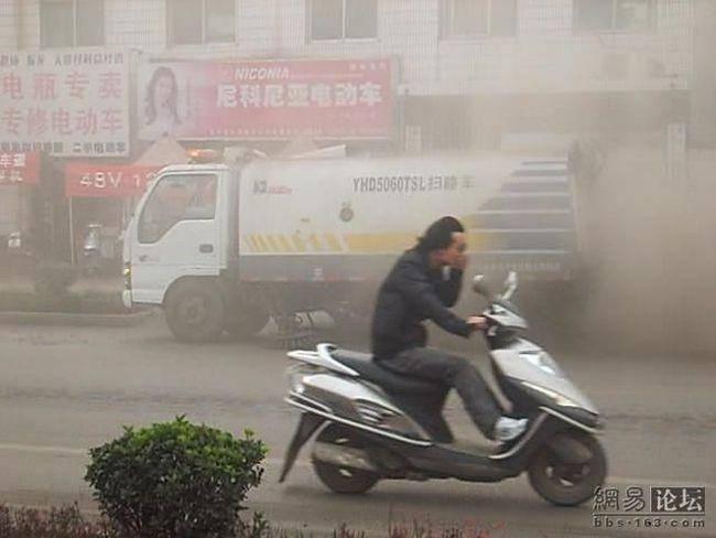 Czyszczenie dróg w Chinach 11