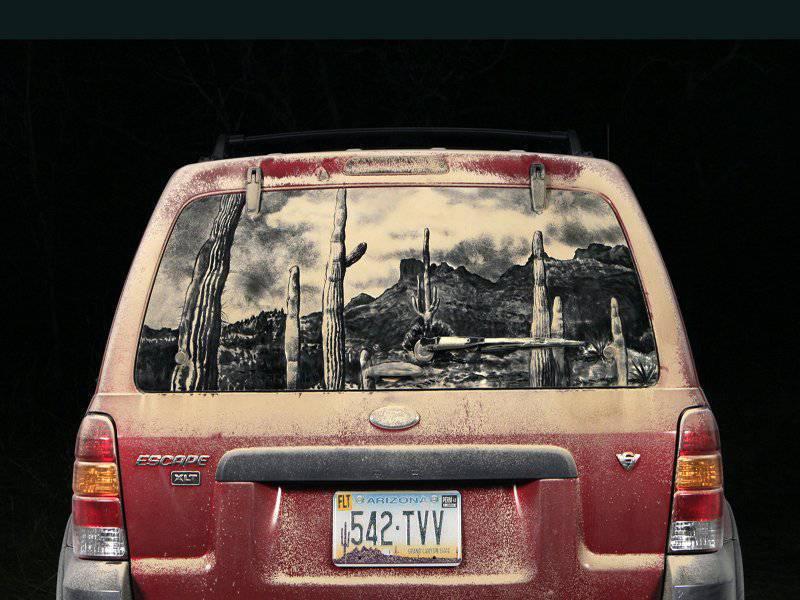 Obrazy na brudnych samochodach 9
