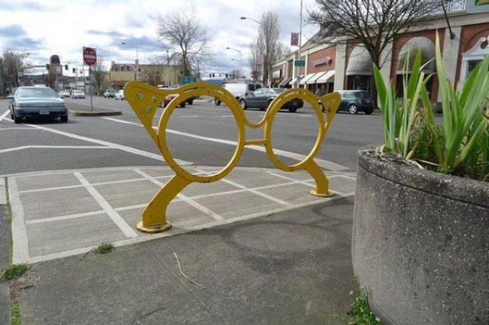 Oryginalne stojaki rowerowe 7