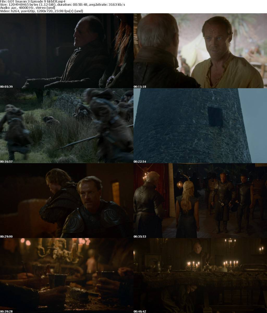 Game Of Thrones Season 3 COMPLETE BDRip 720p AAC x264 - t@bl3t