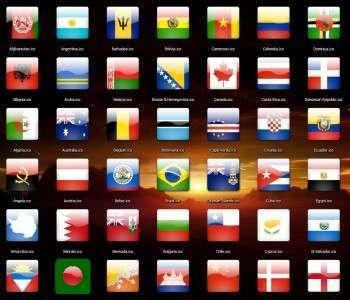 مجموعة رائعة من أعلام الدول 172 أيقونة