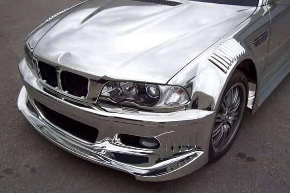 Chromowane BMW M3 17