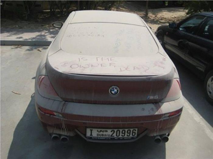 Opuszczone samochody Dubaju 28