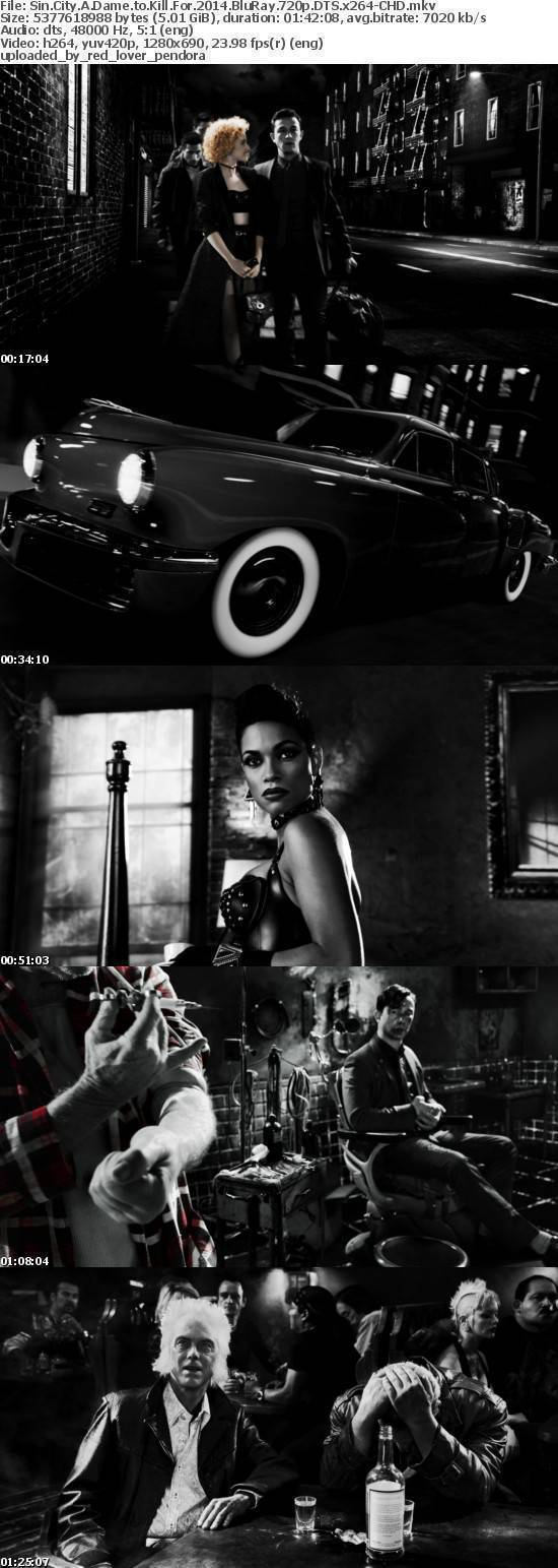 Sin City A Dame to Kill For 2014 BluRay 720p DTS x264-CHD
