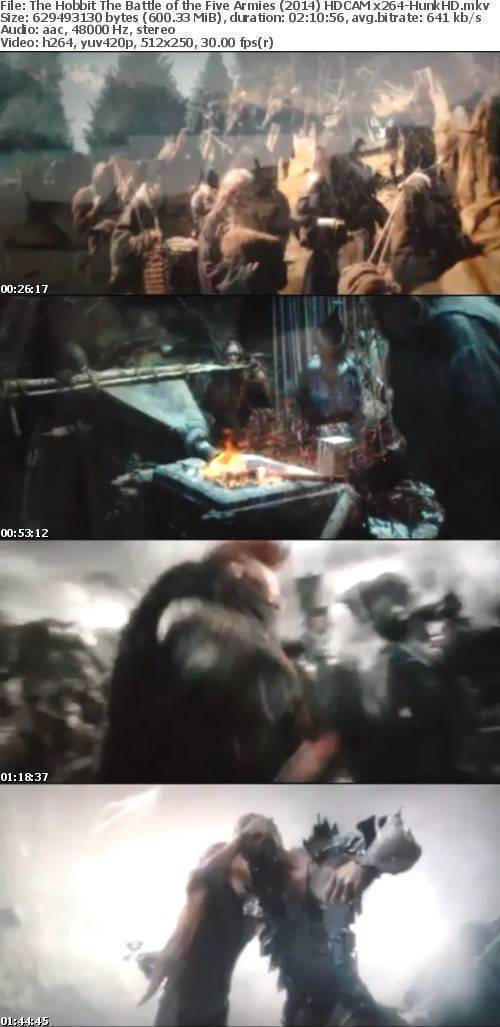 The Hobbit The Battle of the Five Armies (2014) HDCAM x264-HunkHD