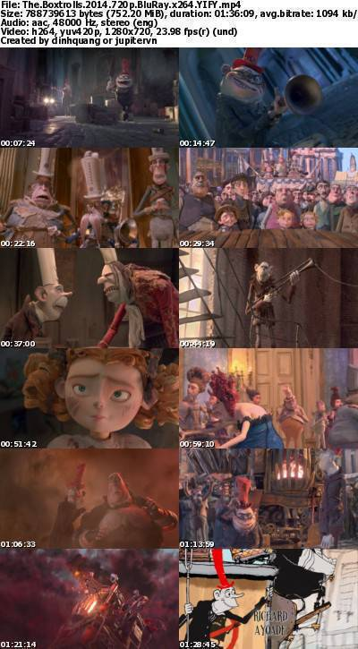 The Boxtrolls (2014) 720p BluRay x264-YIFY