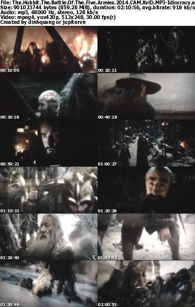 The Hobbit The Battle of the Five Armies (2014) CAM XviD MP3-Idiocracy
