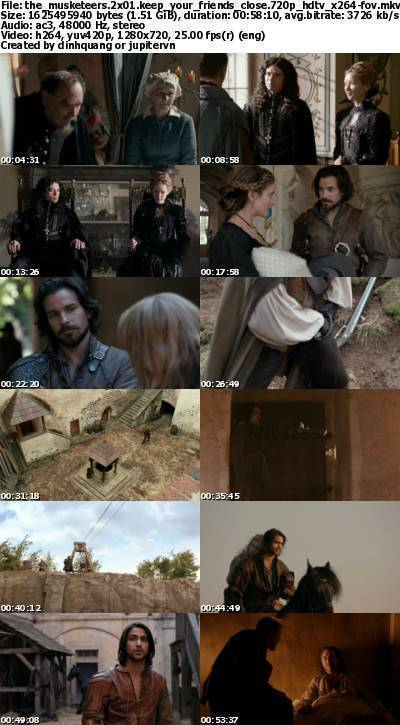 The Musketeers 2x01 Keep Your Friends Close 720p HDTV x264-FoV