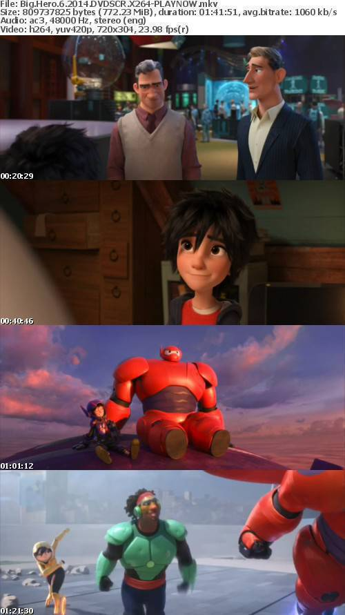 Big Hero 6 2014 DVDSCR X264-PLAYNOW