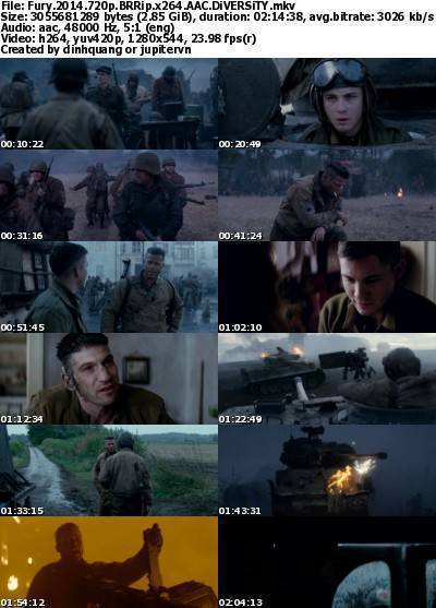 Fury (2014) 720p BRRip x264 AAC-DiVERSiTY