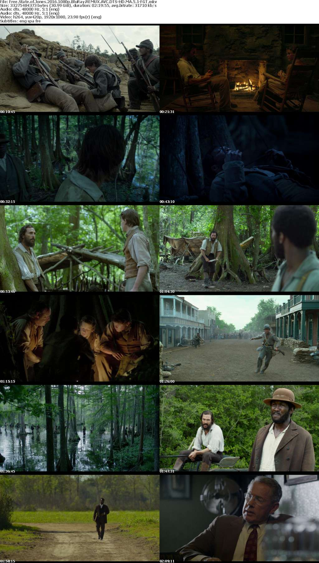 Free State of Jones 2016 1080p BluRay REMUX AVC DTS-HD MA 5 1-FGT