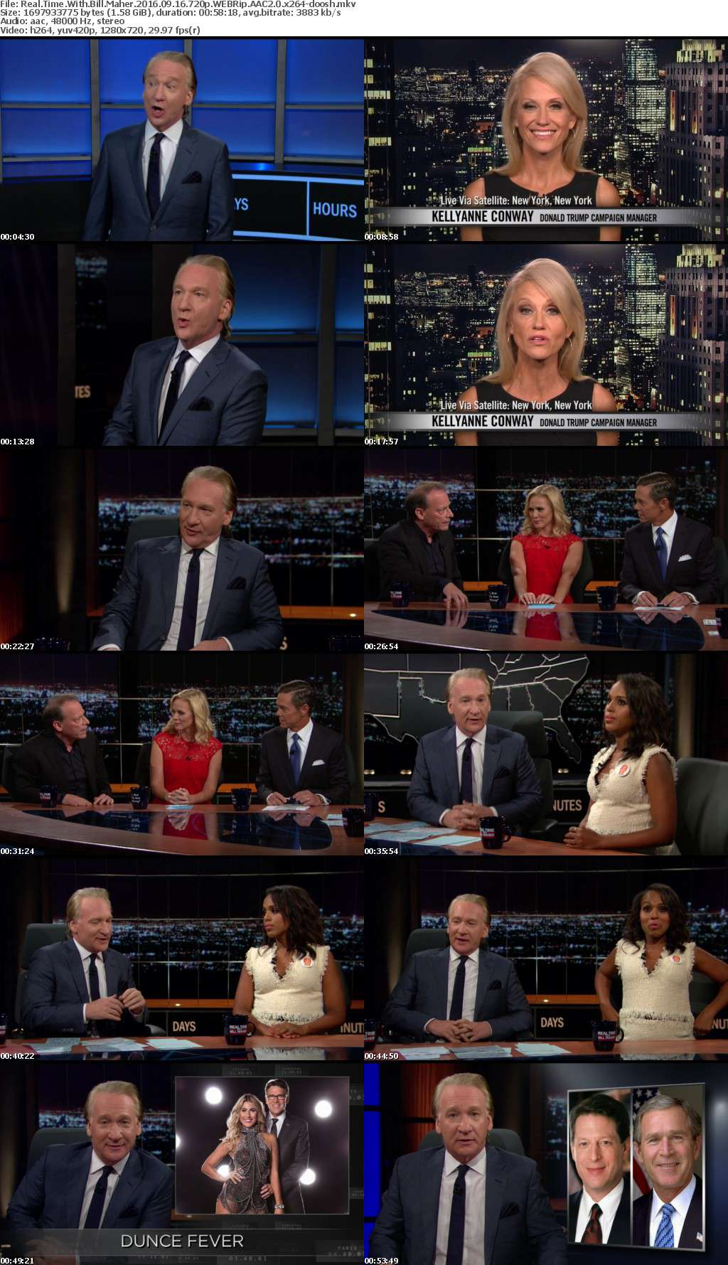 Real Time With Bill Maher 2016 09 16 720p WEBRip AAC2 0 x264-doosh