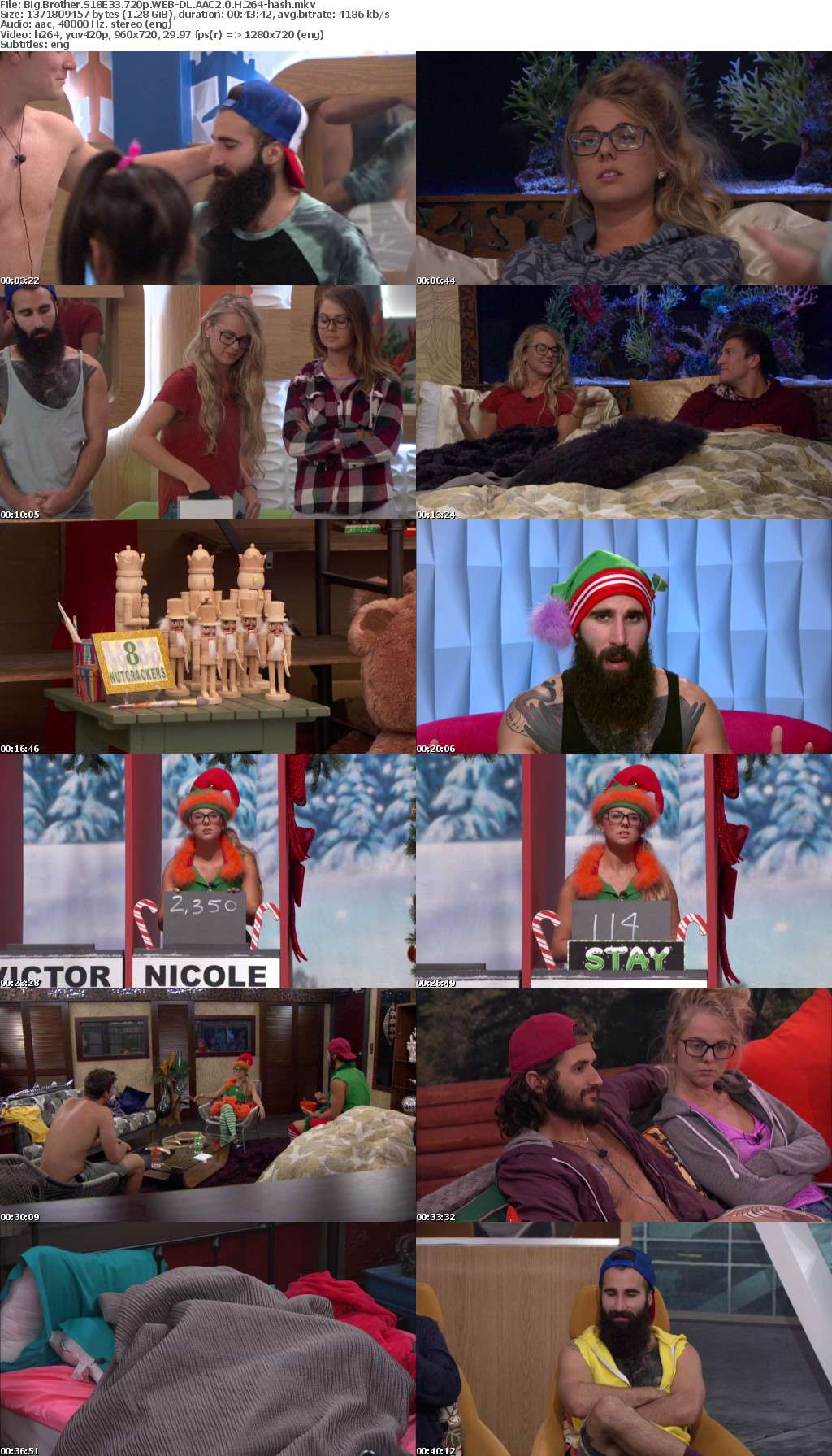 Big Brother S18E33 720p WEB-DL AAC2 0 H 264-hash