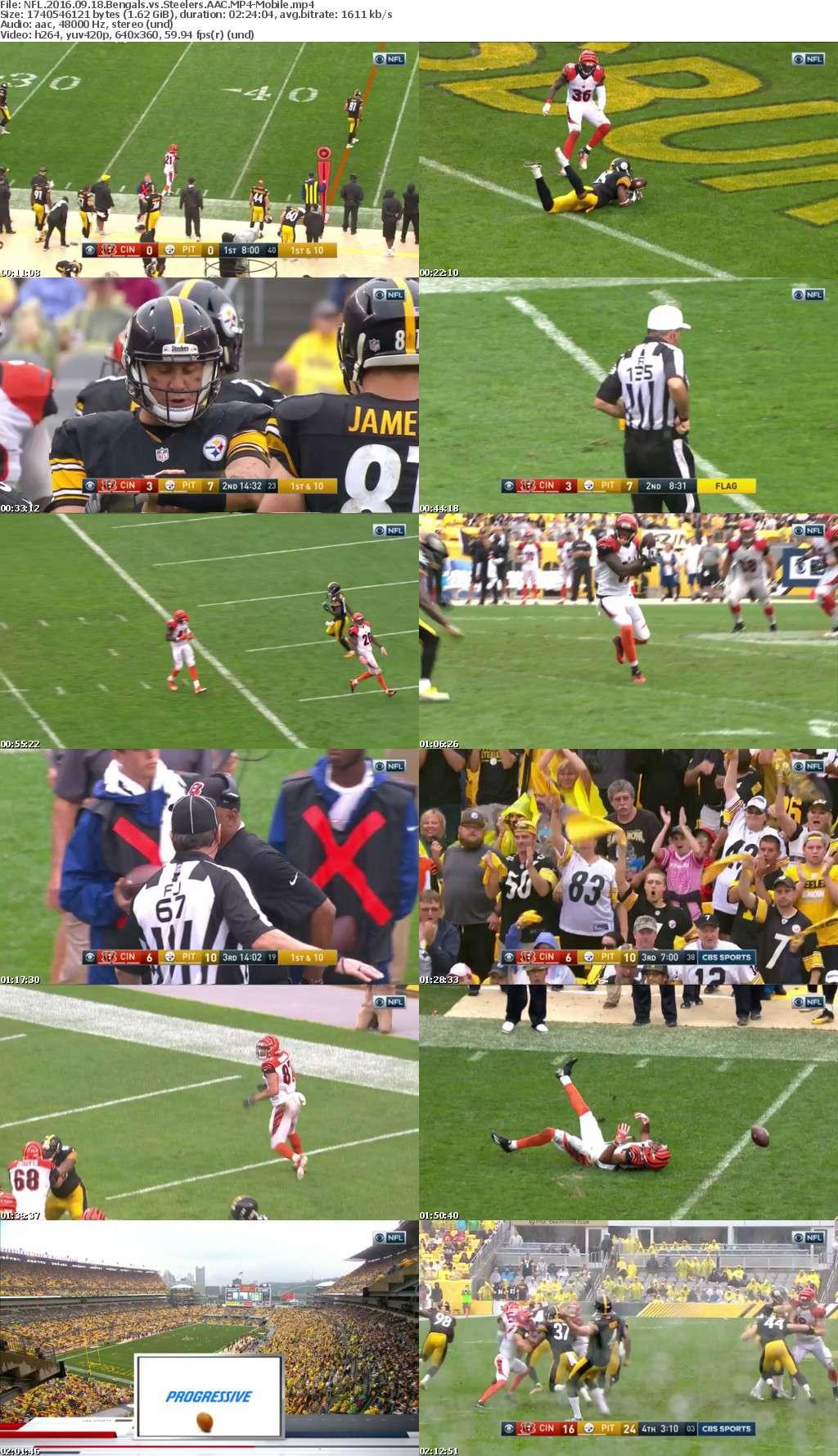 NFL 2016 09 18 Bengals vs Steelers AAC-Mobile