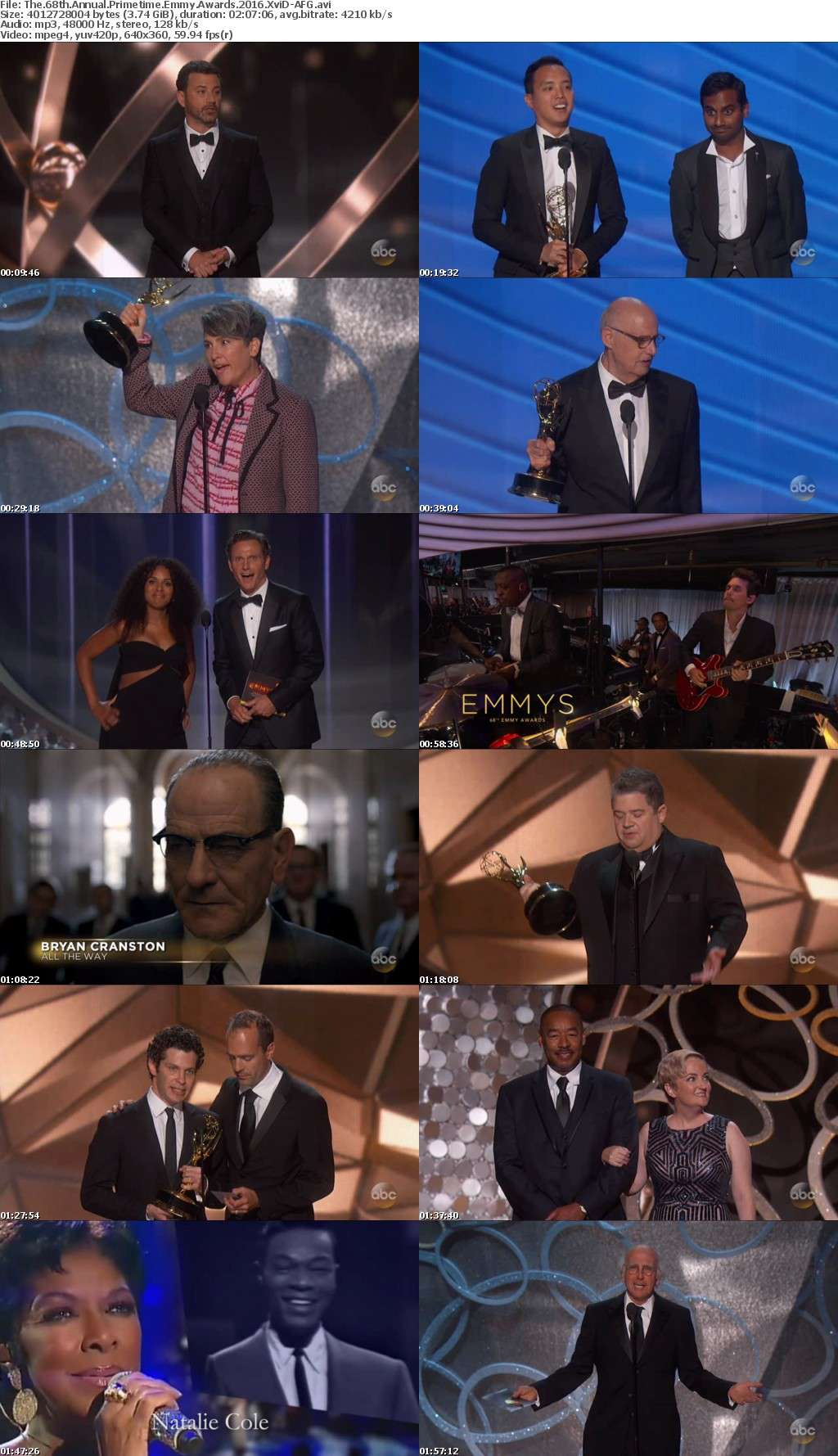 The 68th Annual Primetime Emmy Awards 2016 XviD-AFG
