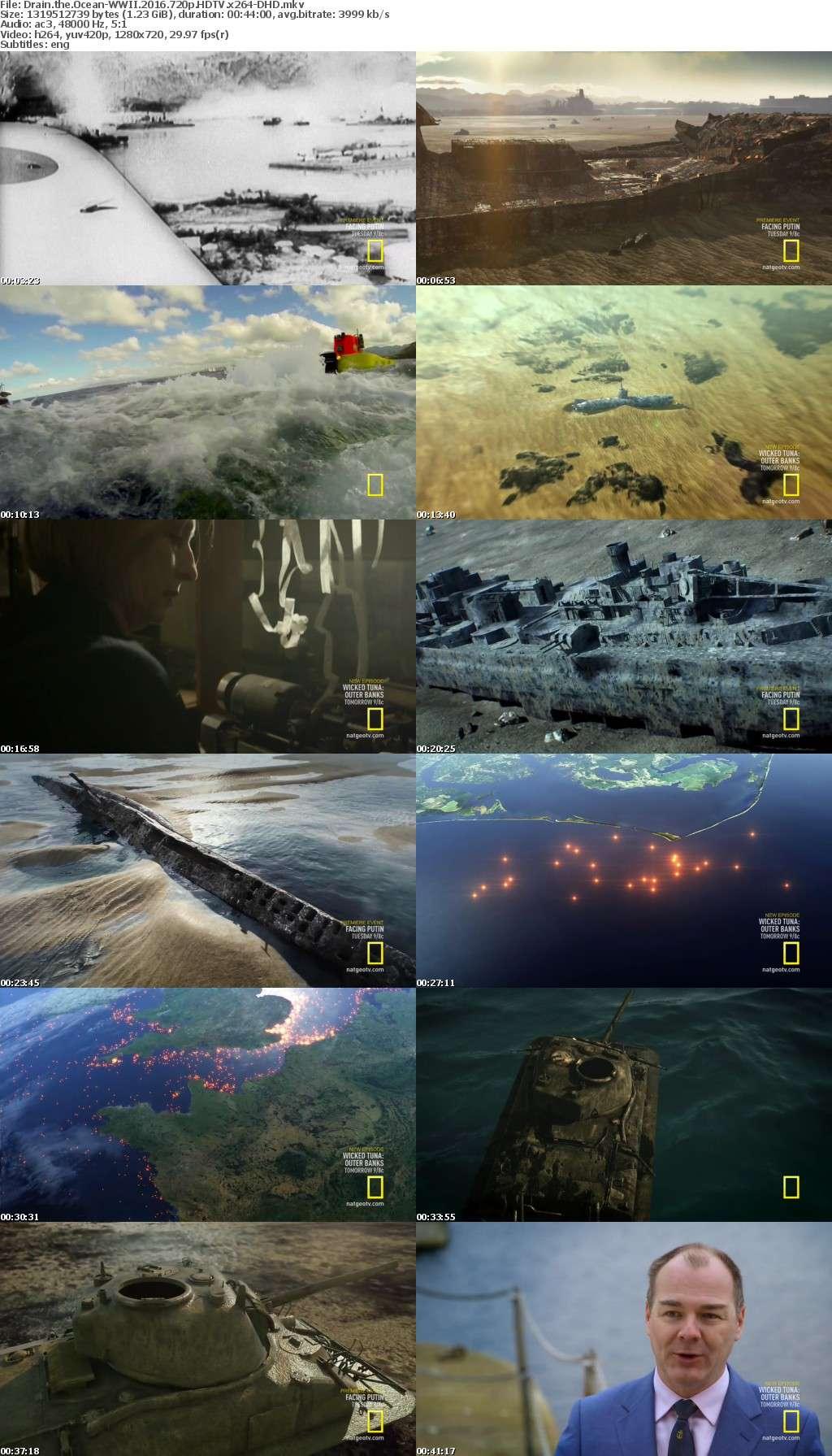 Drain the Ocean-WWII 2016 720p HDTV x264-DHD