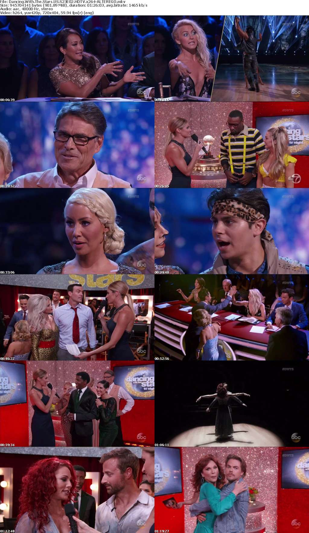 Dancing With The Stars US S23E02 HDTV x264-ALTEREGO