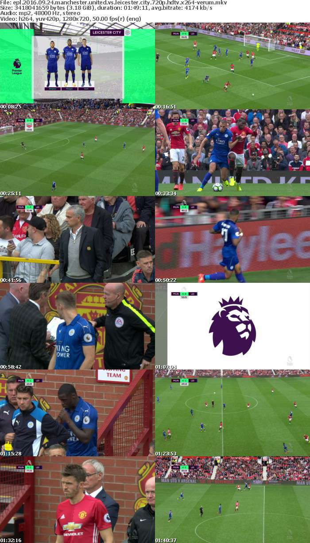 EPL 2016 09 24 Manchester United vs Leicester City 720p HDTV x264-VERUM
