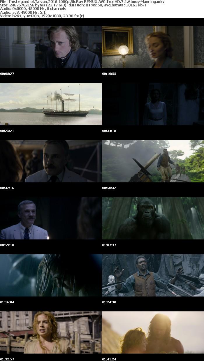 The Legend of Tarzan 2016 1080p BluRay REMUX AVC TrueHD 7 1 Atmos-Manning