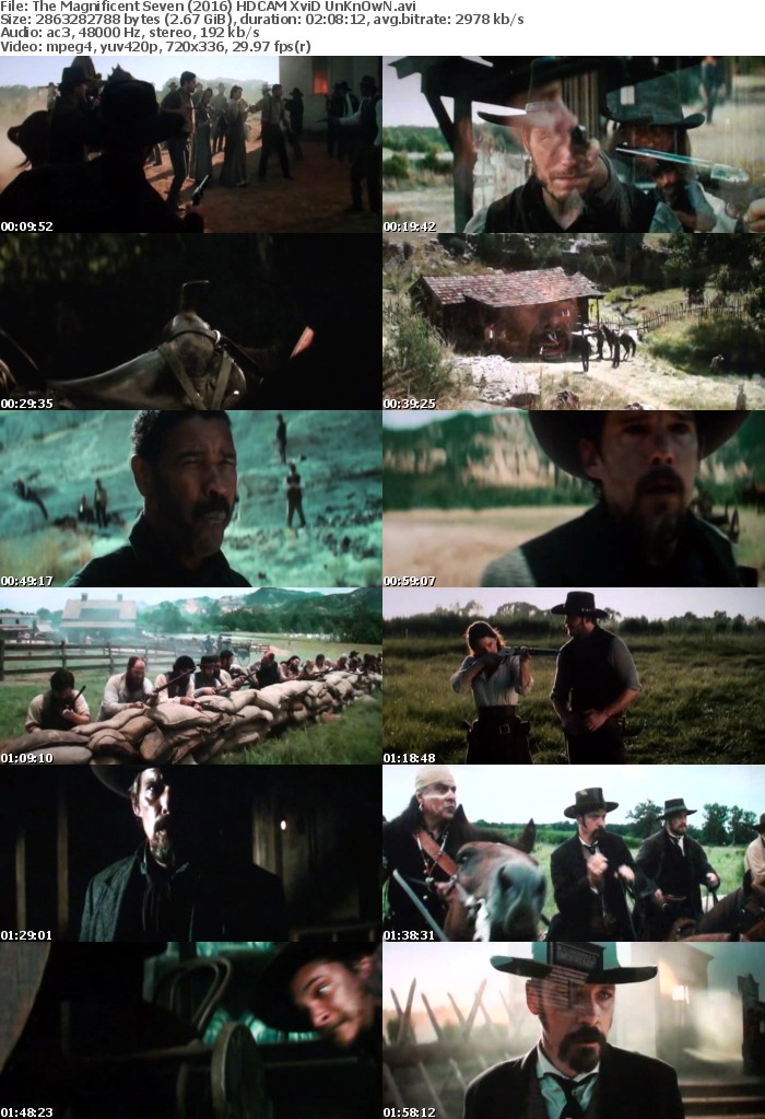 The Magnificent Seven (2016) HDCAM XviD UnKnOwN