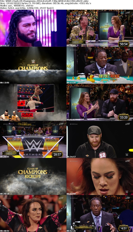 WWE Clash Of Champions 2016 Kickoff 720p WEB H264-RELiANCE