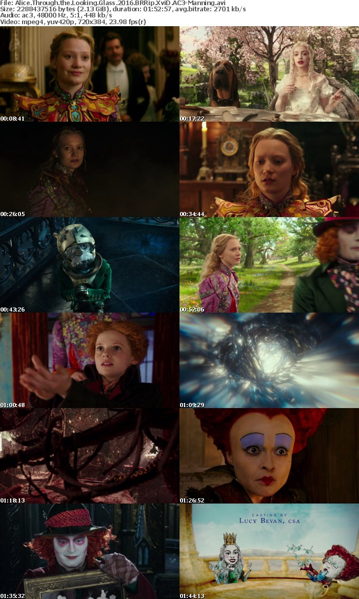 Alice Through the Looking Glass 2016 BRRip XviD AC3-Manning