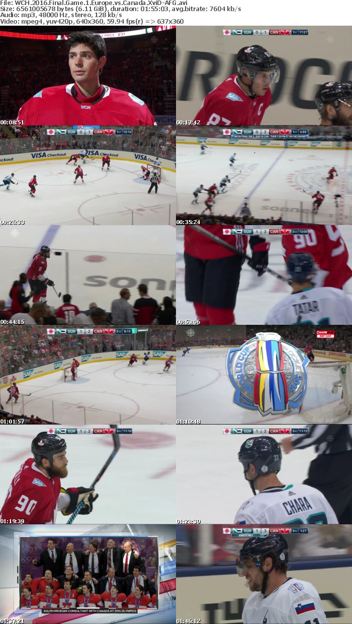 WCH 2016 Final Game 1 Europe vs Canada XviD-AFG