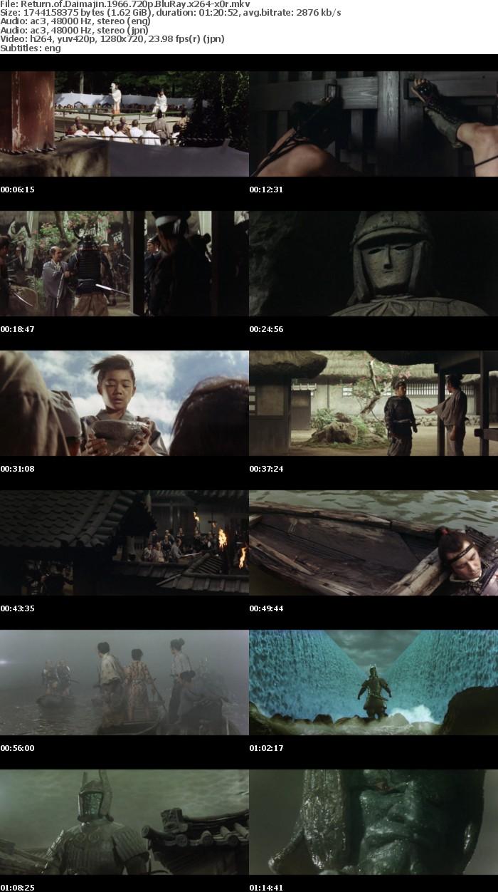 Return of Daimajin 1966 720p BluRay x264 x0r