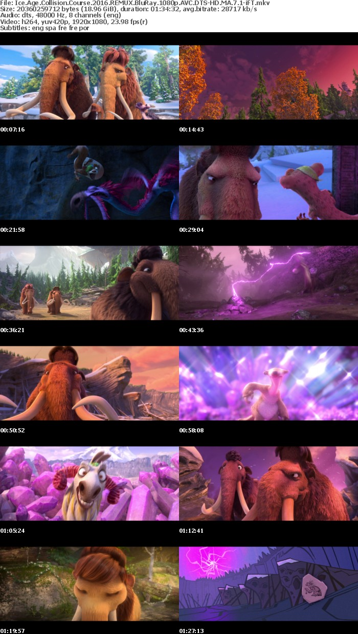 Ice Age Collision Course 2016 REMUX BluRay 1080p AVC DTS-HD MA 7 1-iFT