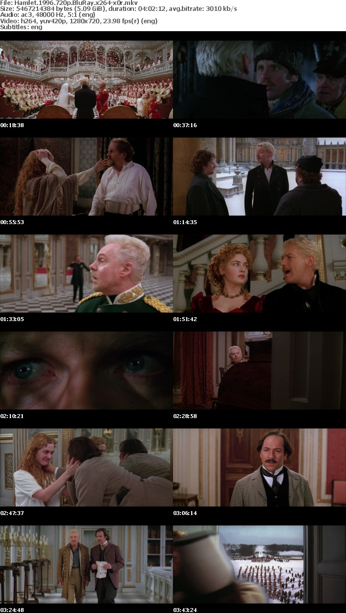 Hamlet 1996 720p BluRay x264 x0r