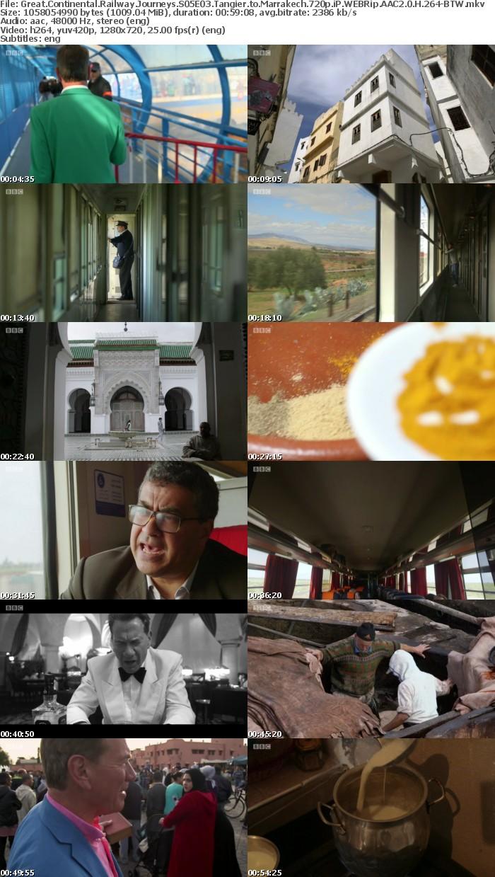 Great Continental Railway Journeys S05E03 Tangier to Marrakech 720p iP WEBRip AAC2 0 H 264-BTW