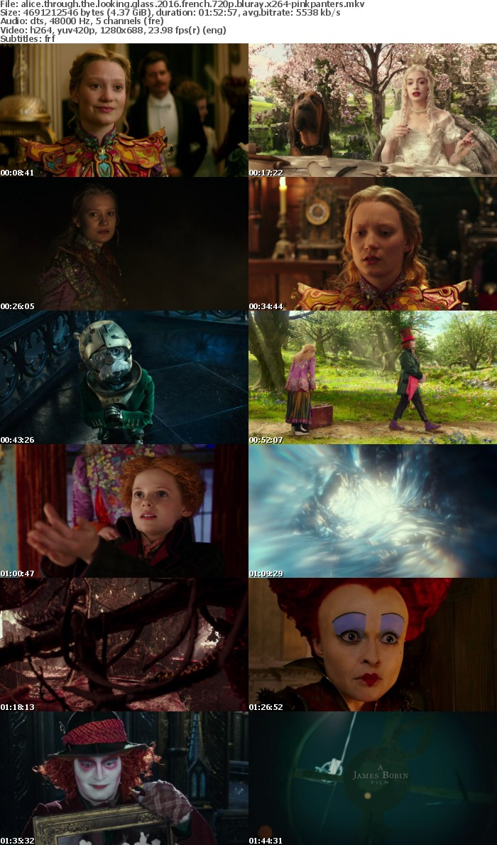 Alice Through the Looking Glass 2016 FRENCH 720p BluRay x264-PiNKPANTERS