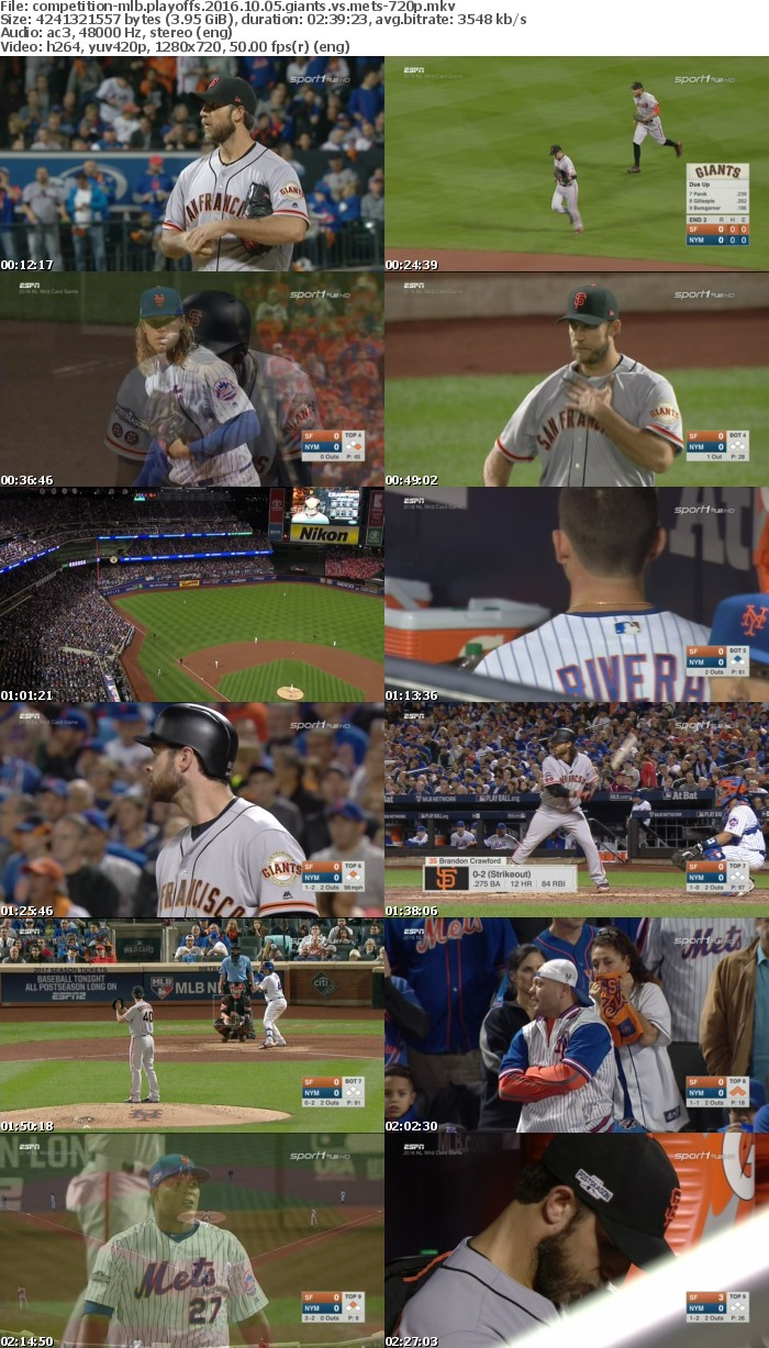 MLB Playoffs 2016 10 05 Giants vs Mets 720p HDTV x264-COMPETiTiON