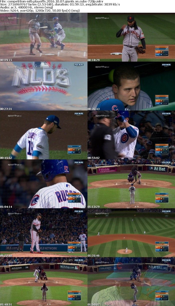 MLB Playoffs 2016 10 07 Giants vs Cubs 720p HDTV x264-COMPETiTiON
