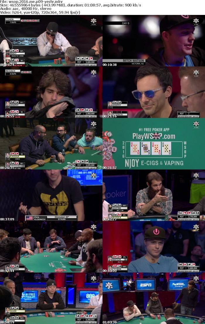 World Series Of Poker 2016 Main Event Part 09 HDTV x264-YesTV
