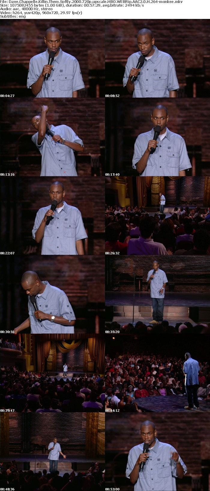 Dave Chappelle Killin Them Softly 2000 720p upscale HBO WEBRip AAC2 0 H 264 monkee