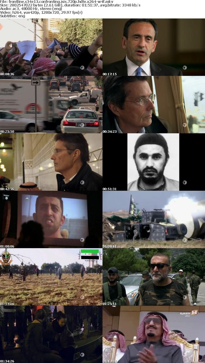Frontline S34E13 Confronting ISIS 720p HDTV x264-W4F
