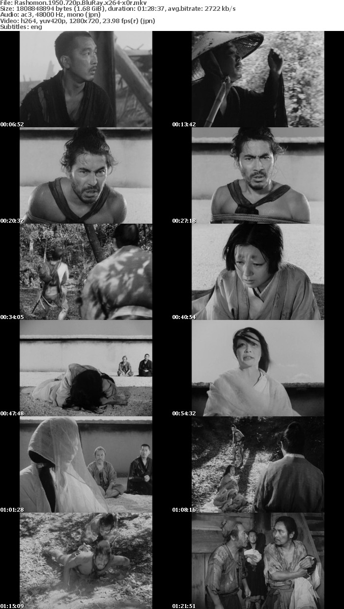 Rashomon 1950 720p BluRay x264-x0r