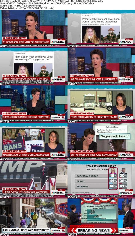 The Rachel Maddow Show 2016 10 12 720p MNBC WEBRip AAC2 0 x264 BTW