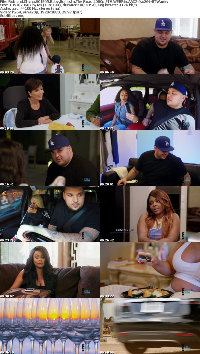 Rob and Chyna S01E05 Baby Bump In The Road 1080p ETV WEBRip AAC2 0 x264 BTW