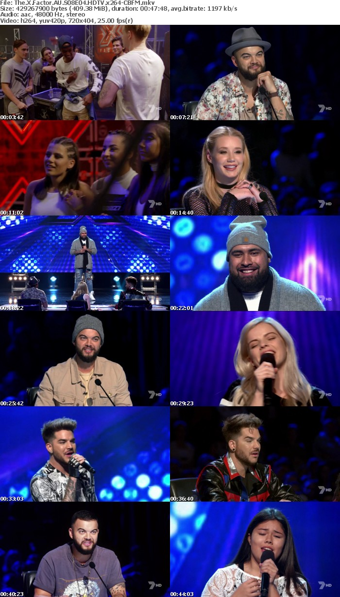 The X Factor AU S08E04 HDTV x264-CBFM