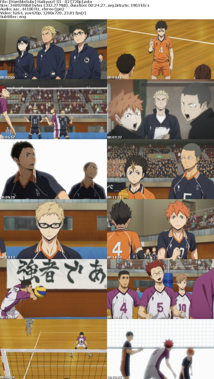 HorribleSubs Haikyuu!! S3 02 720p