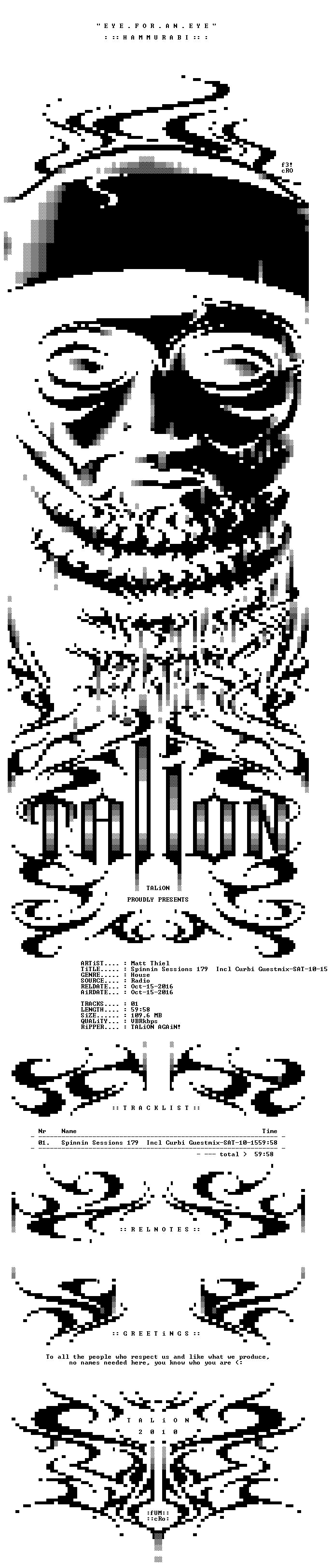 Matt Thiel - Spinnin Sessions 179 Incl Curbi Guestmix-SAT-10-15-2016-TALiON