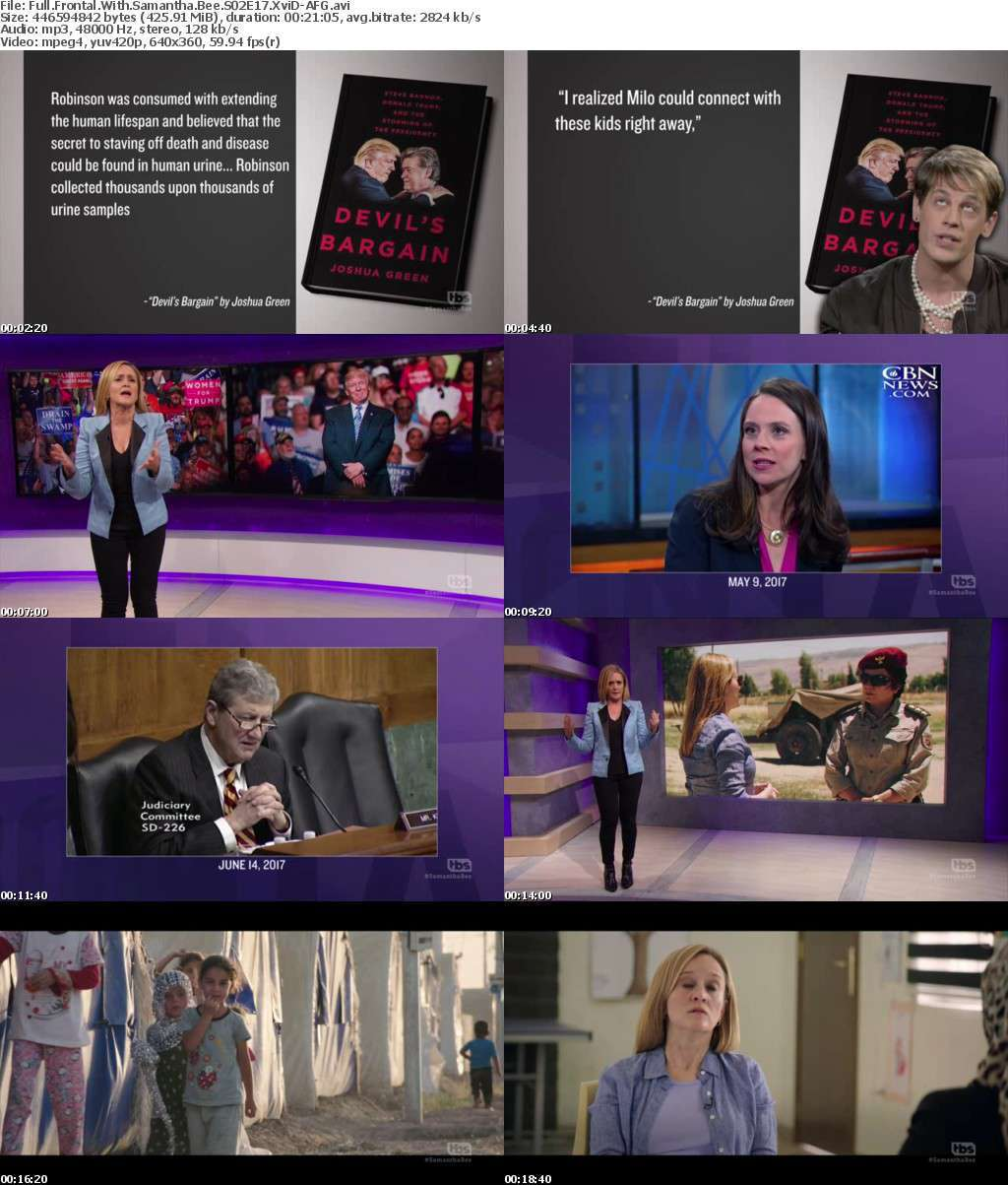 Full Frontal With Samantha Bee S02E17 XviD-AFG